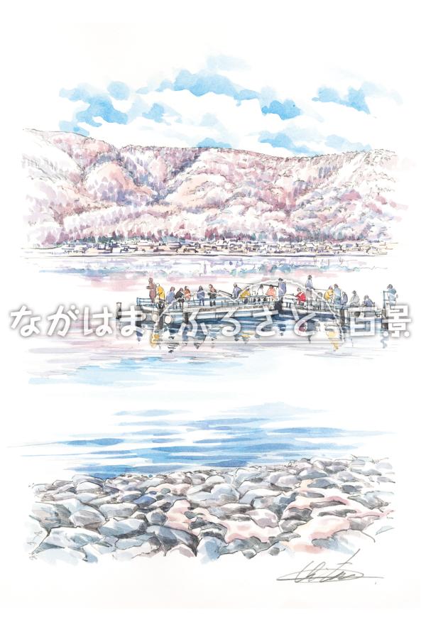 余呉湖(ワカサギ釣り)