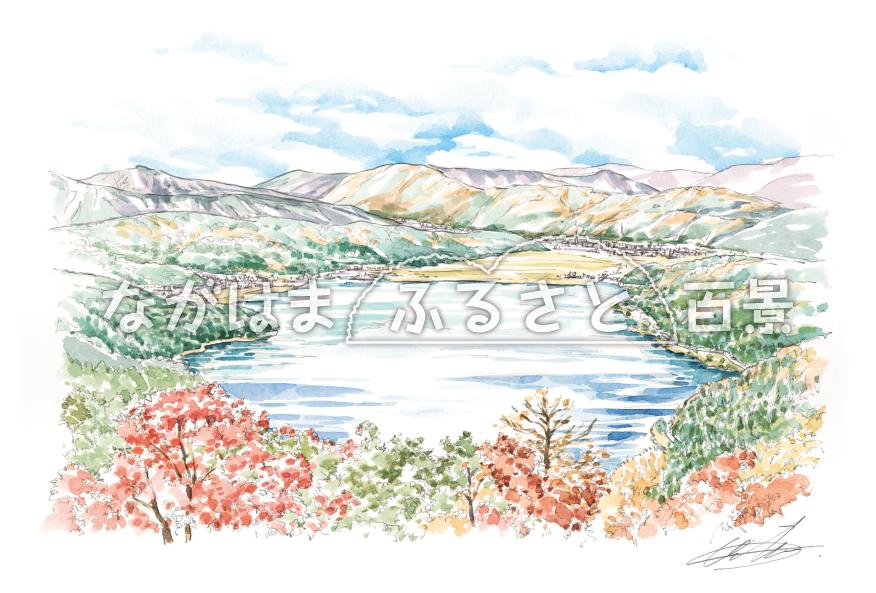 賤ヶ岳からの余呉湖